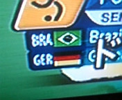 ブラジルVS<br />  ドイツ前半