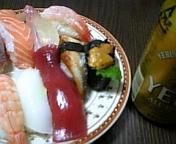 寿司&ビール
