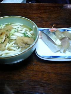 きつねうどん&鯖寿司